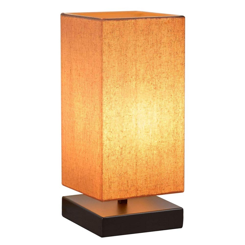 DimmableTouch Control Table Night Lamp with Square Fabric